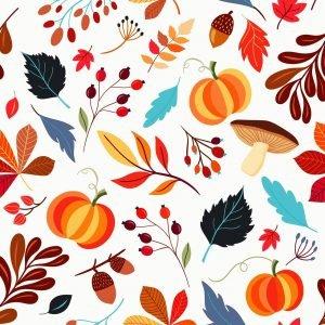 leaves, pattern, autumn pattern